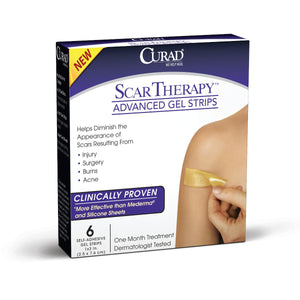 CURAD Advanced Scar Therapy Strips, Case fo 24 Box