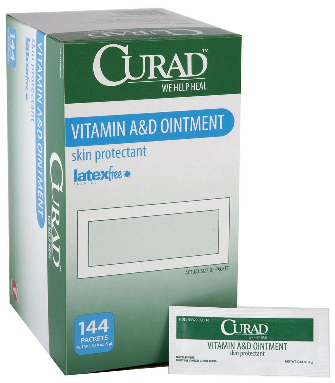 CURAD A and D Ointment,0.017 OZ, Box of 144