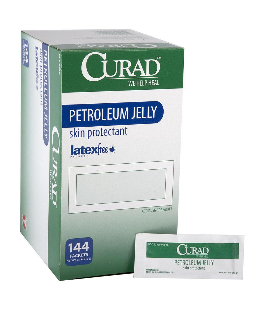 CURAD Petroleum Jelly,0.180 OZ, Box of 144