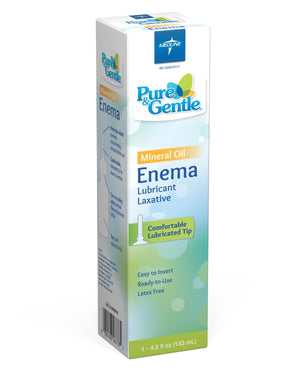 Medline Pure & Gentle Disposable Mineral Oil Enema,4.500 OZ, Case of 24