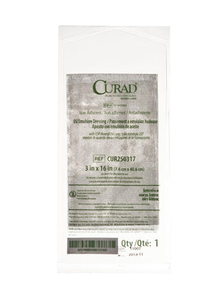 CURAD Sterile Oil Emulsion Non-Adherent Gauze, Box of 36