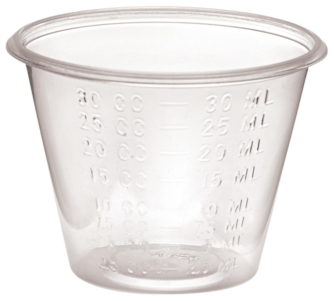 Non-Sterile Graduated Plastic Medicine Cups,1, Case of 5000