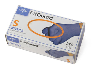 FitGuard Nitrile Exam Gloves,Dark Blue,Small, Box of 250