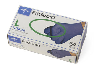 FitGuard Nitrile Exam Gloves,Dark Blue,Large, Box of 250