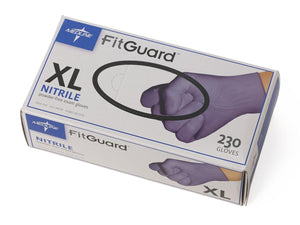 FitGuard Nitrile Exam Gloves,Dark Blue,X-Large, Case of 2300