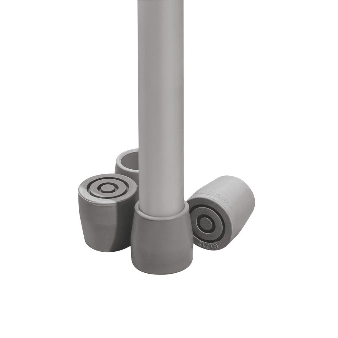 "1"" Guardian Utility Tips,Gray, Case of 8 Set"