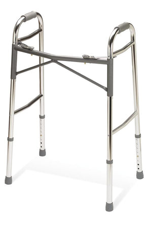 Adult Heavy-Duty Two-Button Folding Walkers,Standard, Each