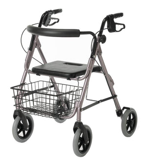 "Guardian Deluxe Rollators with 8"" Wheels,Red,8"", Each"
