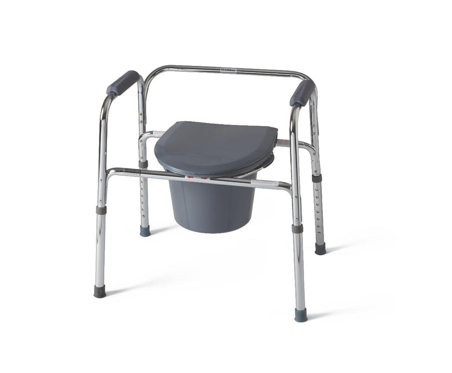 3-In-1 Steel Commode, Case of 4
