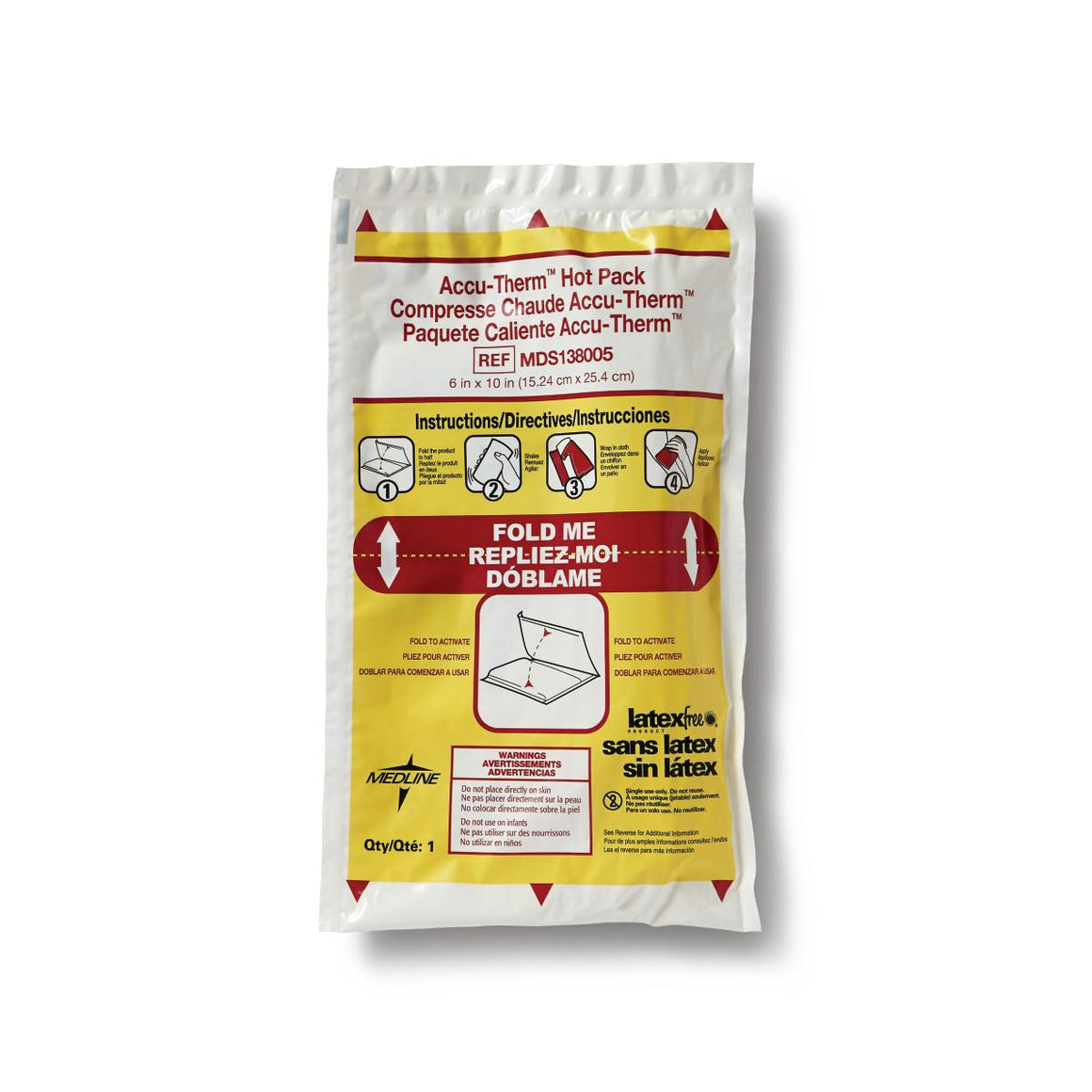 Accu-Therm Non-Insulated Hot Packs, Case of 24