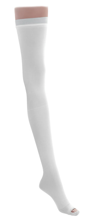 EMS Thigh Length Anti-Embolism Stockings,White,Medium, Regular, Pair