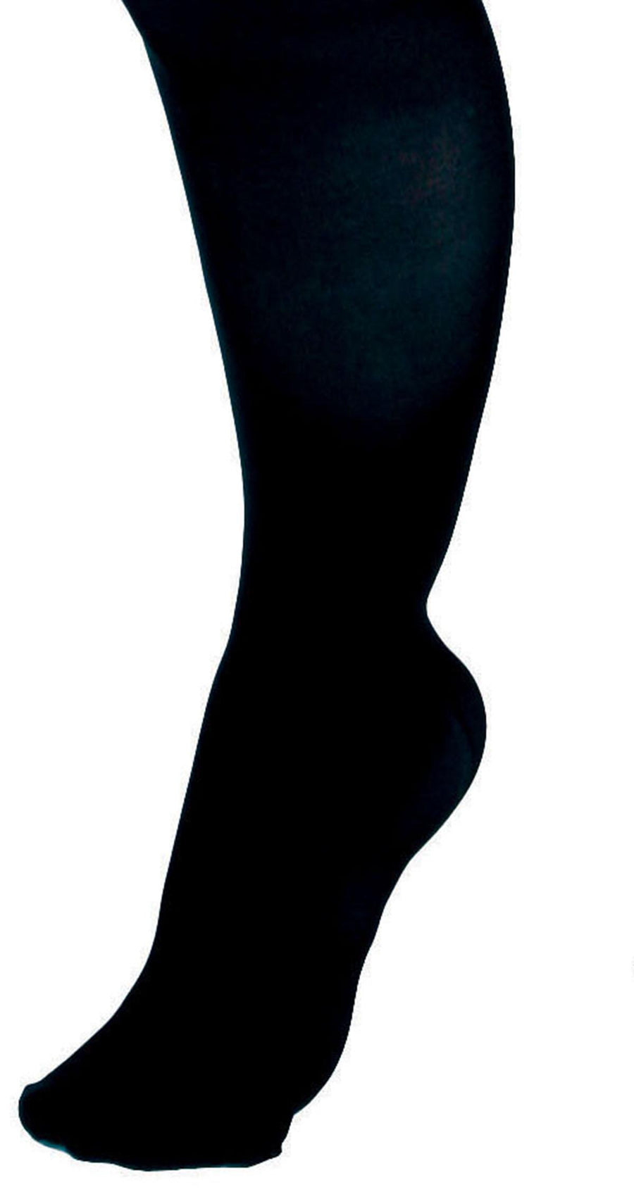 CURAD Knee-High Compression Hosiery, Black, D, Regular, Each