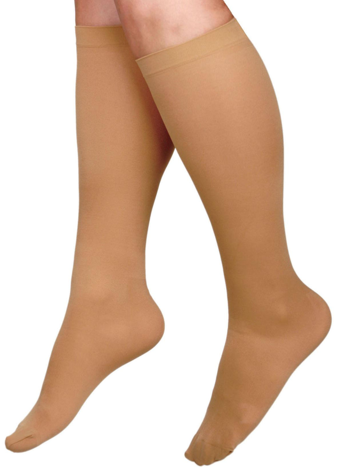 CURAD Knee-High Compression Hosiery, Beige, G, Regular, Each