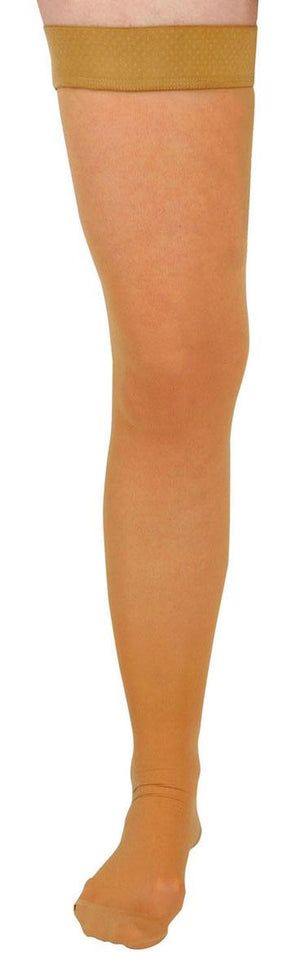 CURAD Thigh-High Compression Hosiery,Beige,D, Each