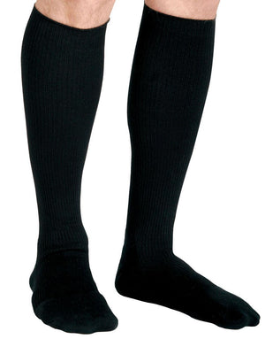 CURAD Cushioned Compression Socks,Black,C, Each