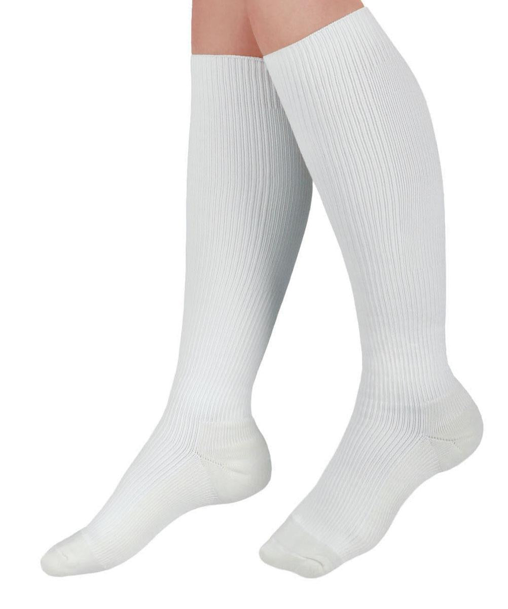 CURAD Cushioned Compression Socks,White,C, Each