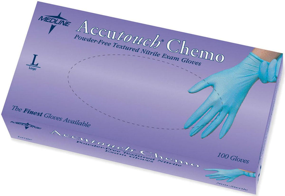 Accutouch Chemo Nitrile Exam Gloves,Blue,Large, Case of 1000