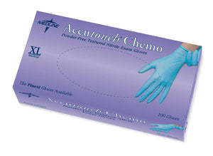 Accutouch Chemo Nitrile Exam Gloves,Blue,X-Large, Case of 1000