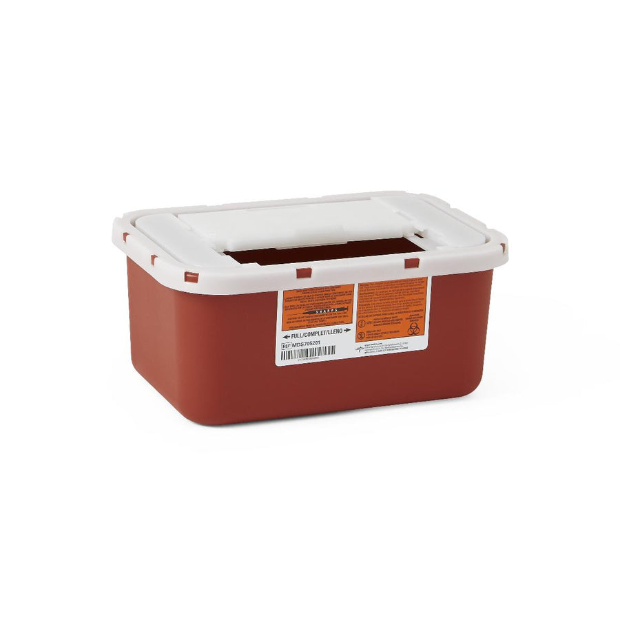 Multipurpose Sharps Containers,Red,4.000 QT, Case fo 32