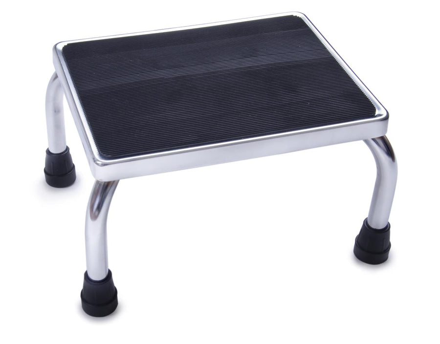 Chrome Footstool with Rubber Mat, Each