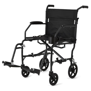 Ultralight Transport Chairs,Black,F: 6   R: 8, Each