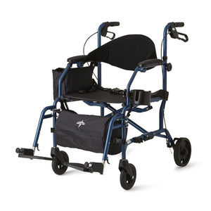"Combination Rollator/Transport Chair,F: 6""  R: 7"", Each"