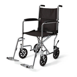 Steel Transport Chair,F: 8   R: 8, Each
