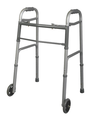 "Youth Two-Button Folding Walkers with 5"" Wheels,5"", Each"