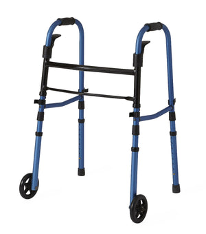 "Folding Paddle Walkers with 5"" Wheels,Blue,5"", Case of 1"