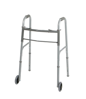 "Two-Button Folding Walkers with 5"" Wheels,5"", Each"