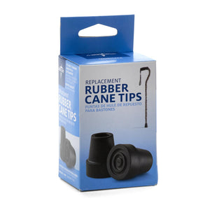Cane Replacement Tips,Black, Case of 6 Pair