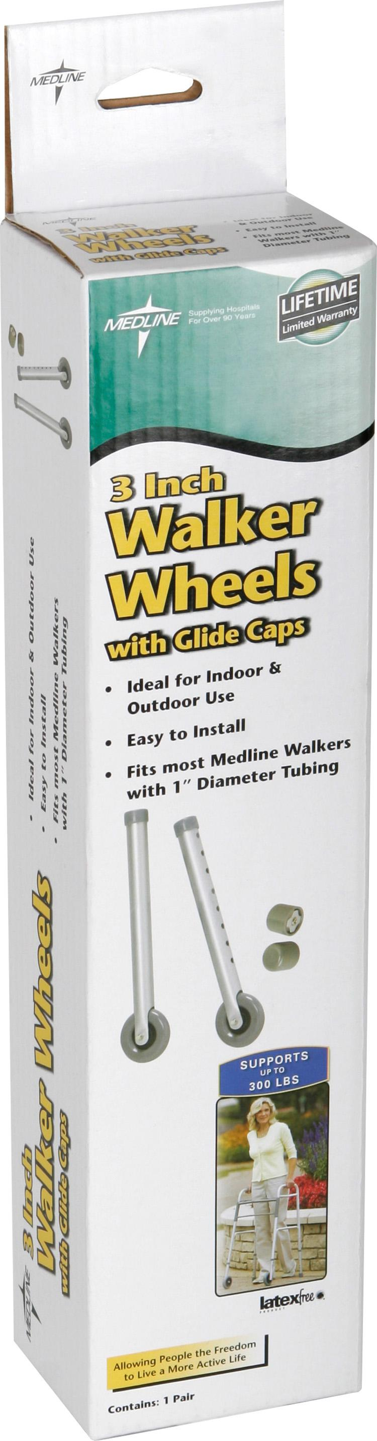 "Walker 3"" Replacement Casters, Set of 2"
