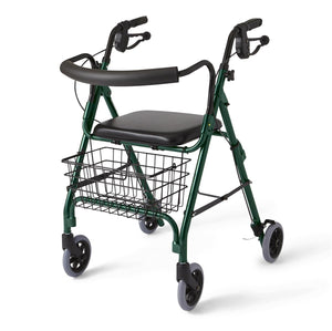 "Deluxe Rollators,Green,6"", Case of 1"