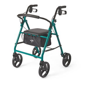 "Basic Steel Rollators,Green,8"", Each"