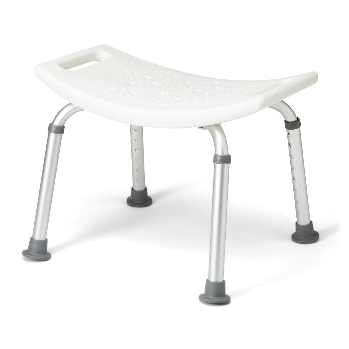 Aluminum Bath Benches without Back,White, Case of 2
