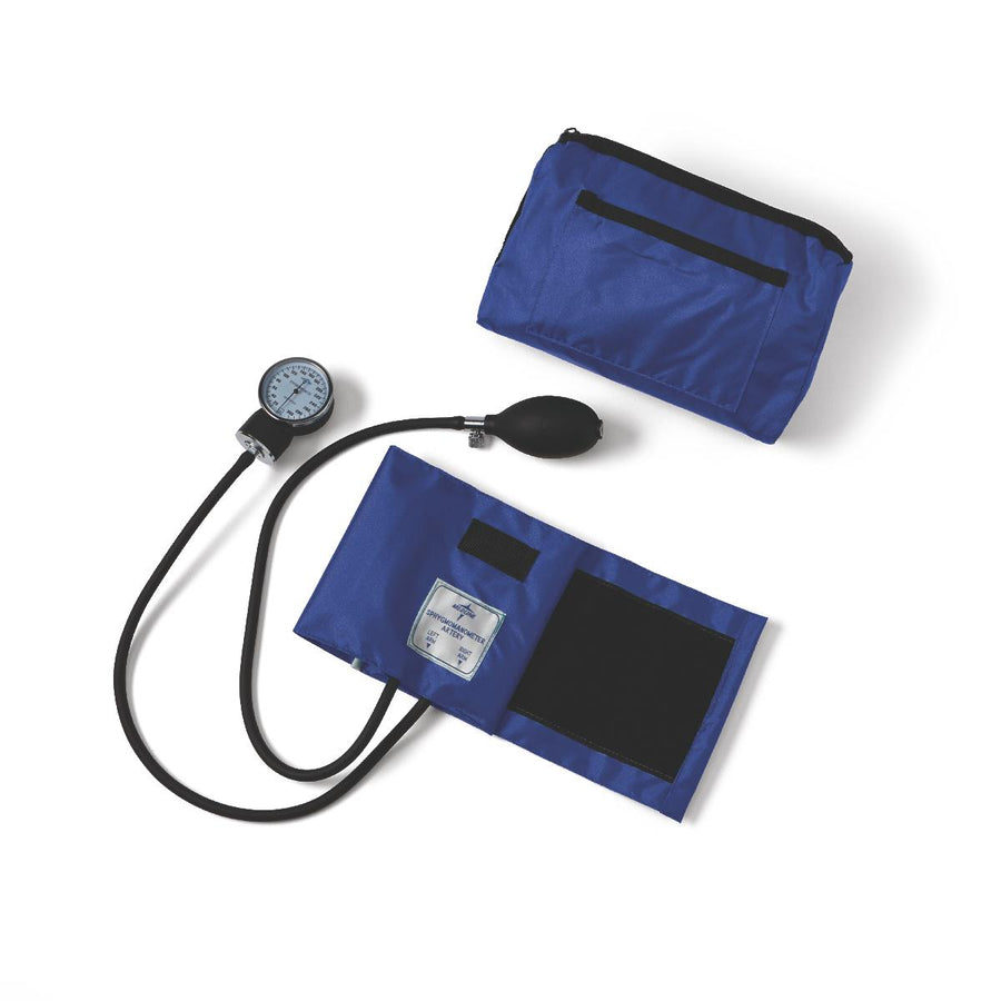 Compli-Mates Aneroid Sphygmomanometers,Royal Blue,Adult, Each