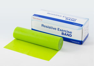 Exercise Bands by Sanctuary Health,Lime Green,6.000 YD, Each