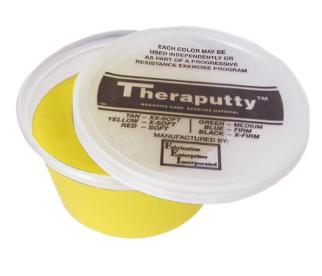 Theraputty Standard Exercise Putty,Yellow,2.000 OZ, Each