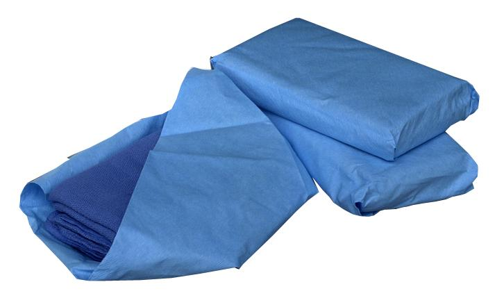 Sterile Disposable Surgical Towels,Blue, Case of 80