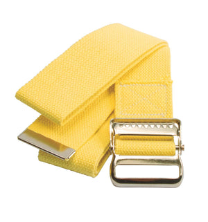 Washable Cotton Material Gait Belts,Yellow, Each