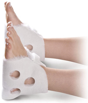 Ventilated Heel Protectors,White,Unisize, Pair