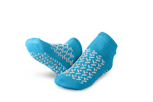 Double-Tread Slippers,Blue,L, Pair