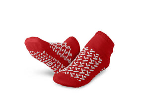 Double-Tread Slippers,Red,S, Pair