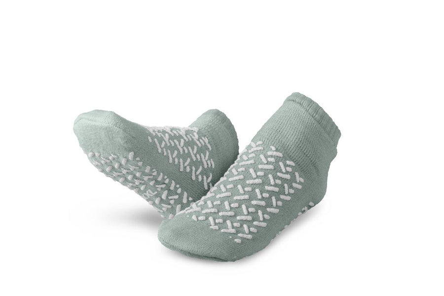 Double-Tread Slippers,Gray,2XL, Pair