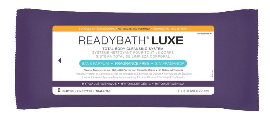 ReadyBath LUXE Total Body Cleansing Heavyweight Washcloths, Case of 24 Pack