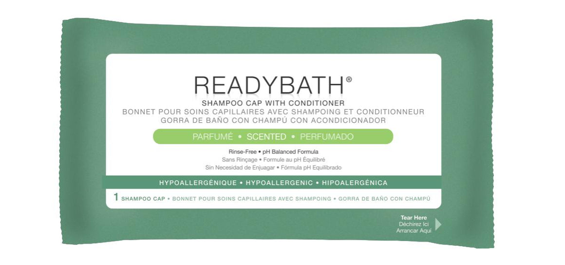 ReadyBath Rinse-Free Shampoo and Conditioning Caps, Case of 30
