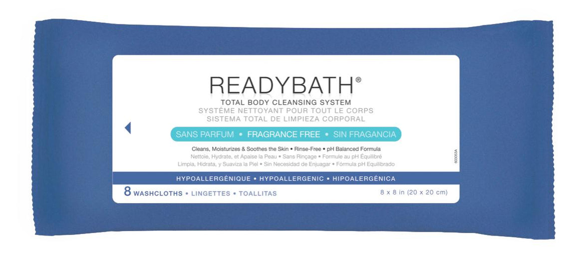 ReadyBath Total Body Cleansing Standard Weight Washcloths, Case of 30 Pack