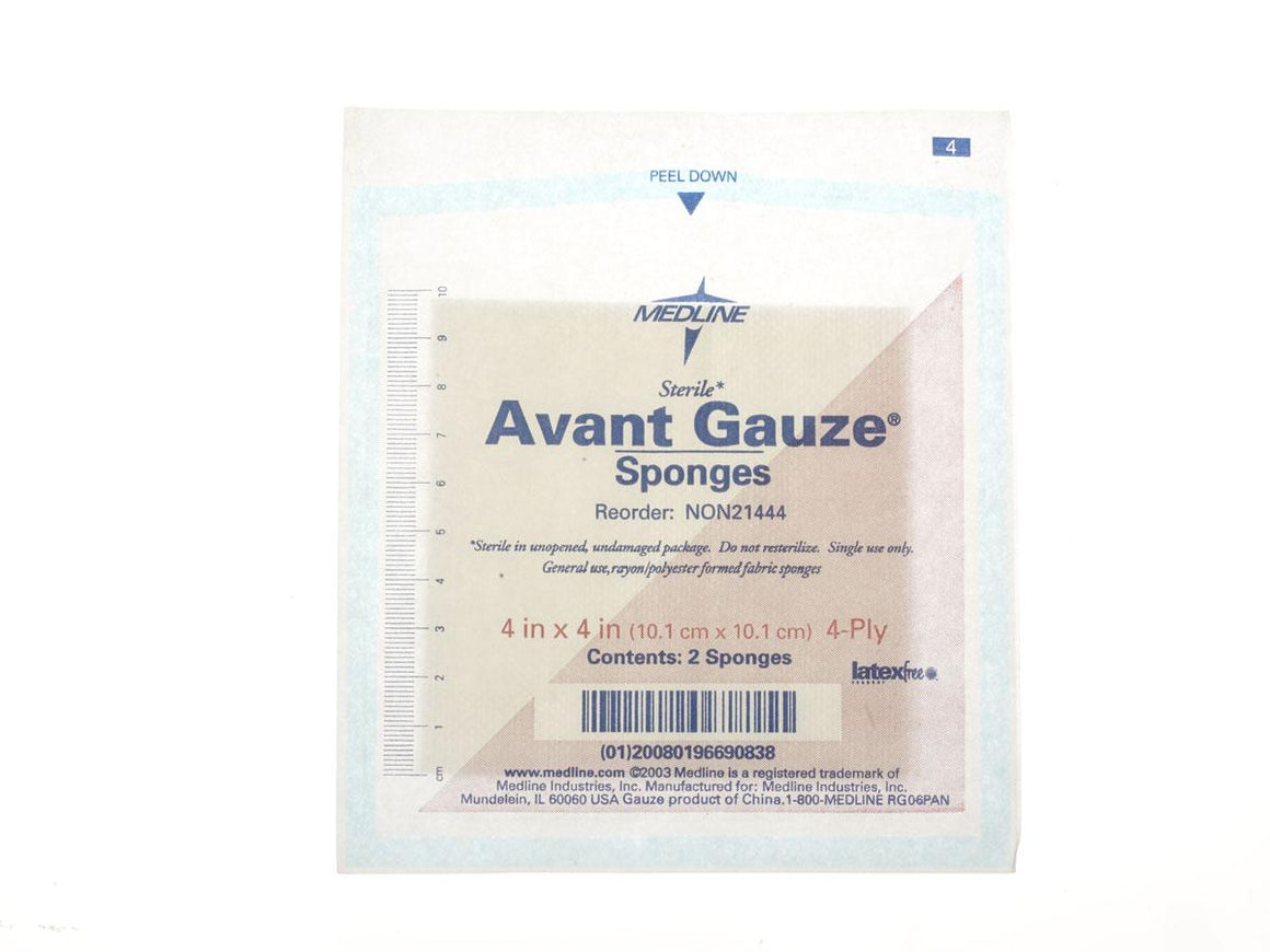 Avant Gauze Non-Woven Sterile Sponges, Box of 100