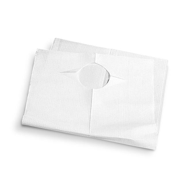 Disposable Adult Bibs,White, Case of 150