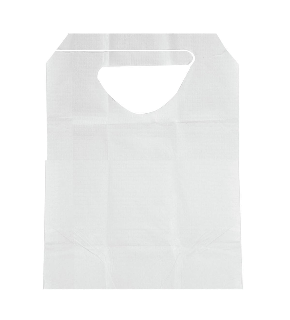 Disposable Adult Bibs,White, Case of 300